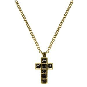 Gucci Enameled Medium Cross Necklace in Gold